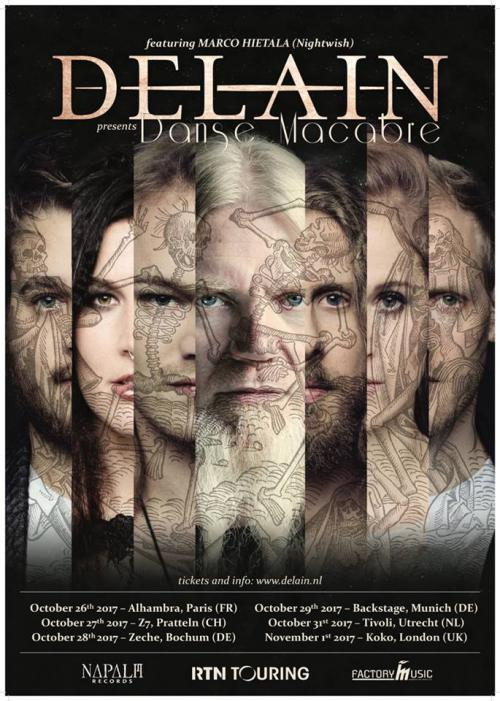 DELAIN Welcomes you to the DANSE MACABRE tour featuring MARCO HIETALA from NIGHTWISH
