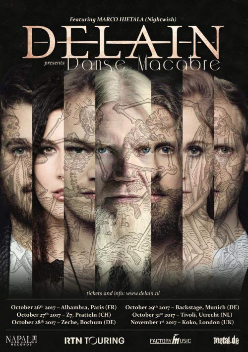 Tickets for  Delains Danse Macabre tour featuring Marco Hietala from Nightwish on sale now!