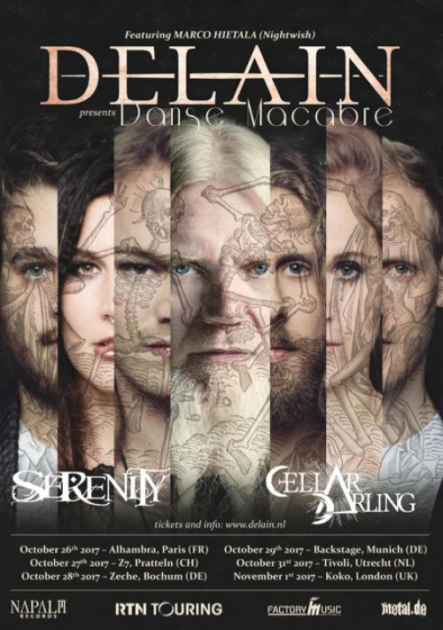 Delain announce support acts for Danse Macabre Tour