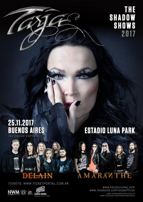 DELAIN returns to Argentina for show with TARJA and AMARANTHE