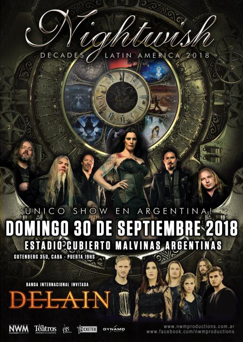 Delain joins Nightwish on Latin American tour