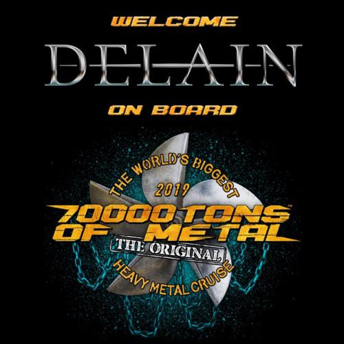 DELAIN confirmed for 70.000 Tons of Metal 2019