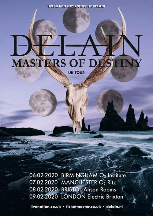 Delain announce UK tour