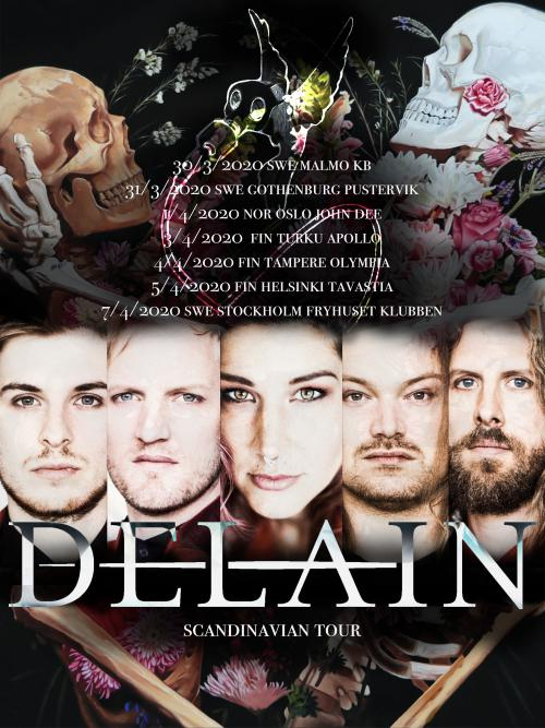 Delain announce Scandinavian headline tour