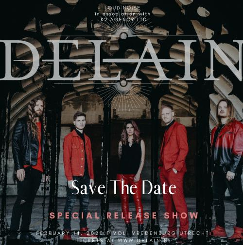 Get your tickets, save the date! Delain at Tivoli Vredenburg 14-02-2020